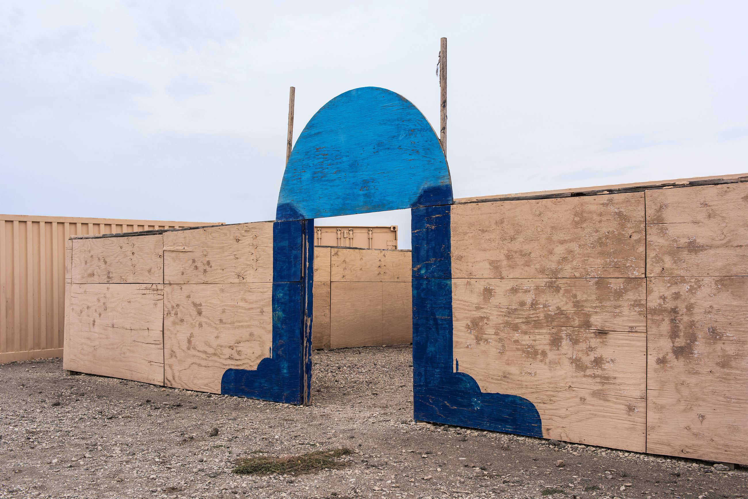 The Approximate Color Of Religion, Live Fire Village #6, Fort Riley, Kansas by Shreepad Joglekar