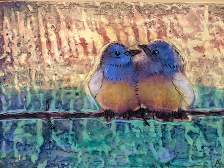 Ann Carter encaustic