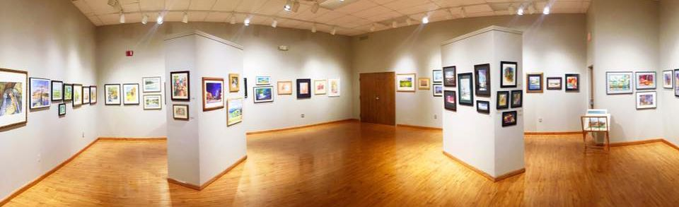 Watercolor studio Exhibit Panorama 2016