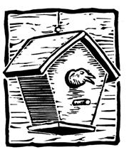 BirdHouse woodcut copy