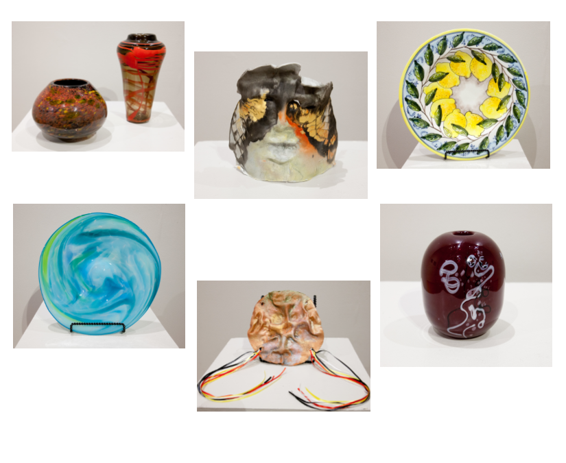 auction pottery and glass